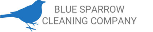 Blue Sparrow Cleaning Company Logo